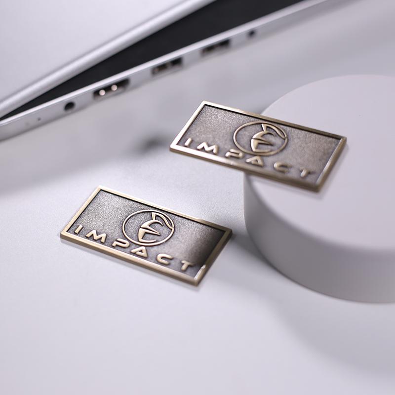 Metal casting custom logo label for furniture high-end antique brass logo plate/badge metal label plate for furniture