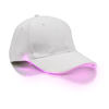 White Cap with Pink Lights