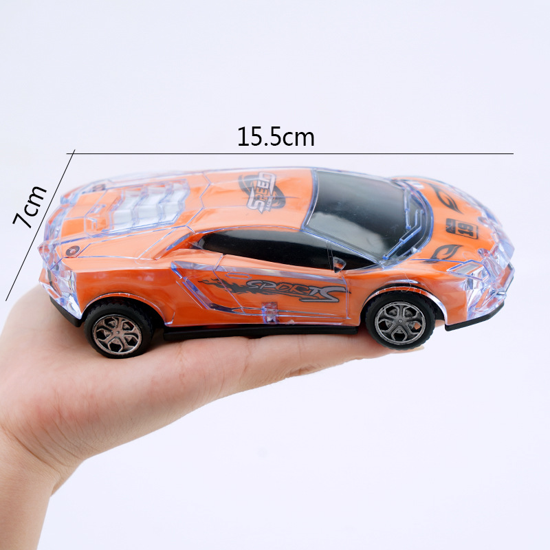 Music Flash Children's inertia toy car Kids Gifts Children's Inertia Drop-proof Baby Sports Friction Car with Light Music Car