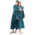 Bathrobe Hotel High Quality Custom Polyester Flannel Fleece Bathrobe Hotel Couple Set
