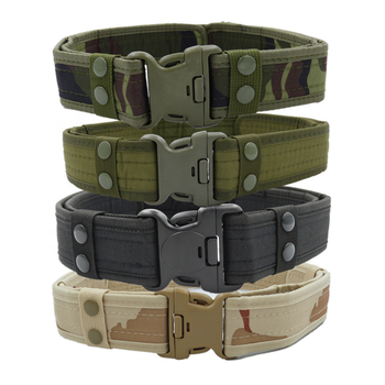Amazon Wholesale Camouflage Nylon Heavy Duty Unisex Adjustable Comfortable Colorful Tactical Military Belt