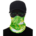 Green Scarf Quick-Dry Stretchy Microfiber Green Dolphin Printing Multifunctional Seamless Headwear Facemask Neck Tube Scarf Bandana