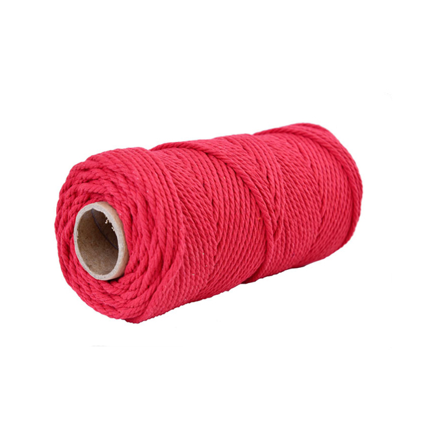 2mm to 8mm wholesale twisted cotton macrame cord rope braid cotton cord