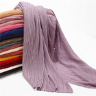 New Fashion Design Pleated Bubble Chiffon Crinkle Hijab For Women Muslim Head Scarf