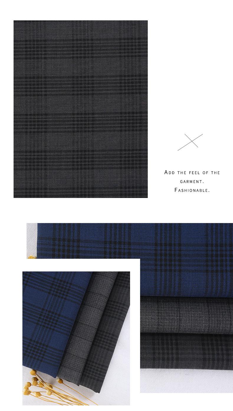 Оптовая продажа, шерстяная ткань в клетку для осенне-зимнего костюма, куртки, пальто