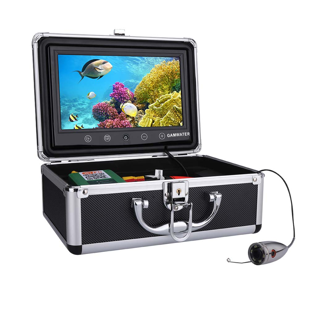 """Details about  /9/"""" Inch Color Monitor 20M 1000tvl Underwater Fishing Video Camera Kit 6 PCS LED"""