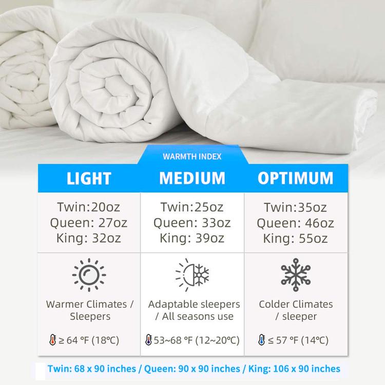 Всесезонное стеганое одеяло из 100% хлопка с наполнителем из белого гусиного утиного пуха и перьев