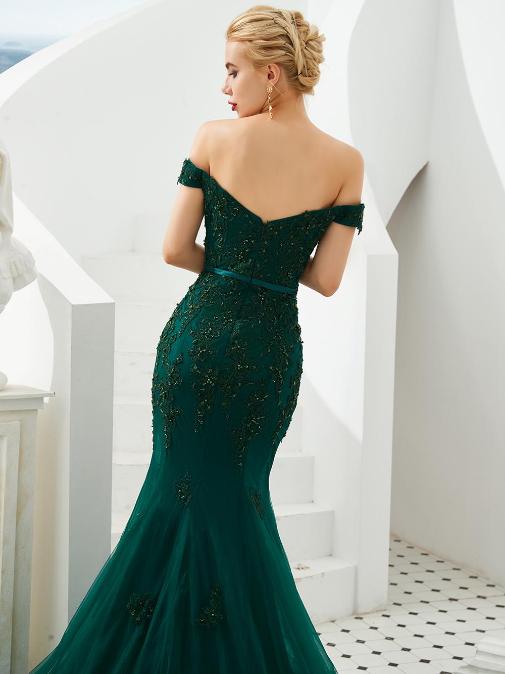 Женское вечернее платье с юбкой-годе, Элегантное Длинное платье подружки невесты с открытой спиной, аппликацией и блестками, 2021