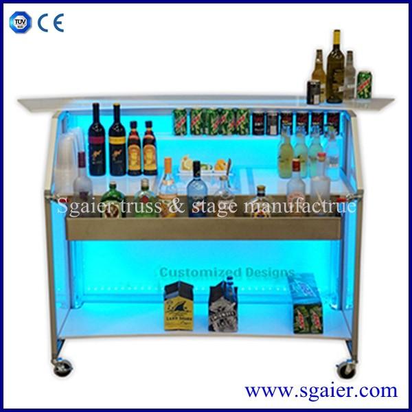 Мини барная стойка Коммерческая барная стойка дизайн передвижная Складная барная стойка для продажи