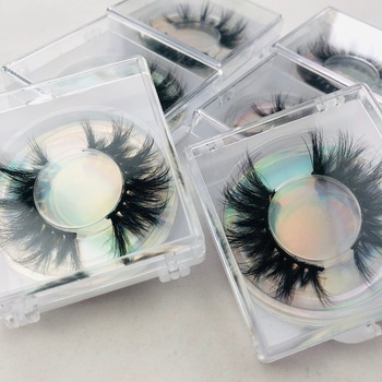25 mm 3d mink eyelash 25MM LASHES eyelash with private custom packaging