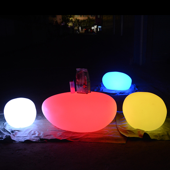 led landscaping stone luminous wireless solar charging led ball light sphere lamp for outdoor garden