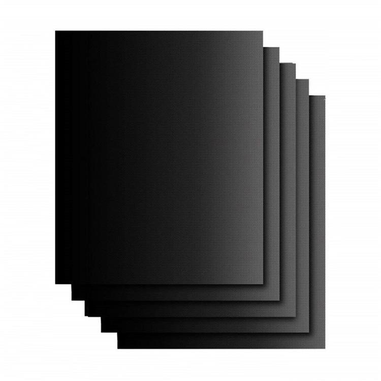 Hot Sale 33cm 40cm 0.2mmThickness Black Non Stick Heat Resistant BBQ Mat BBQ Accessories Grill Mat