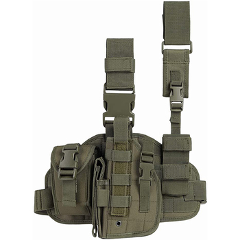 Tactical Pistol Thigh Gun Holster, Drop Leg Holster, Right Hand Adjustable ,Glock 19 Holster
