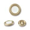 8934#Mat gold&White  20mm