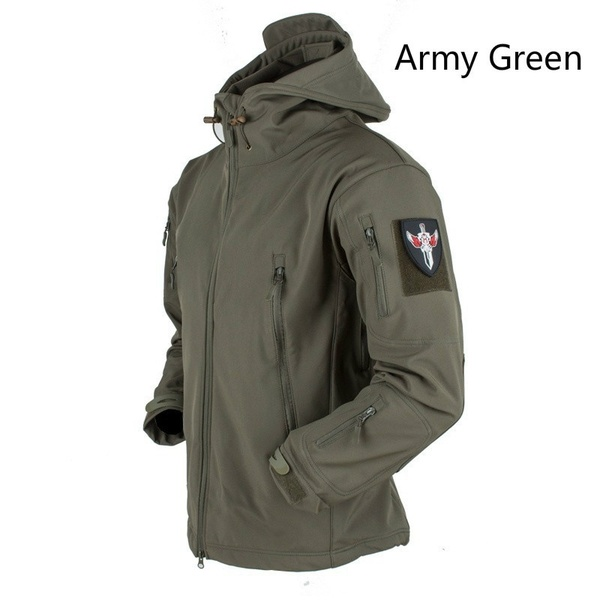 Soft Shell V4 Tactical Military Jacket Waterproof Softshell Jackets Men Army Hoody Jacket