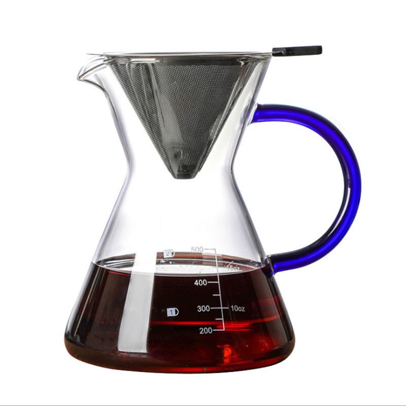600 мл/800 мл термостойкий стеклянный кофейник кофейные чашки счетная Кофеварка бариста Перколятор(Китай)