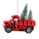 Baoying Yibo Factory wholesale Best selling christmas glass car /truck shape hanging ornament on tree