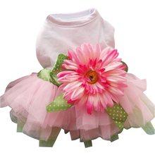 Весна-лето 2020, платье для собак, одежда с большим подсолнухом, Милая юбка принцессы, Свадебное бальное платье, вечерние платья, товары для до...(Китай)