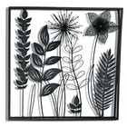 IVY 3d Black Metal Flower Branch Leaf Wall Art Hangings Home Decor