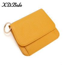 XDBOLO, кожаный женский кошелек, модный кошелек для монет для женщин, держатель для карт, маленький женский кошелек, женские кожаные мини-кошел...(Китай)