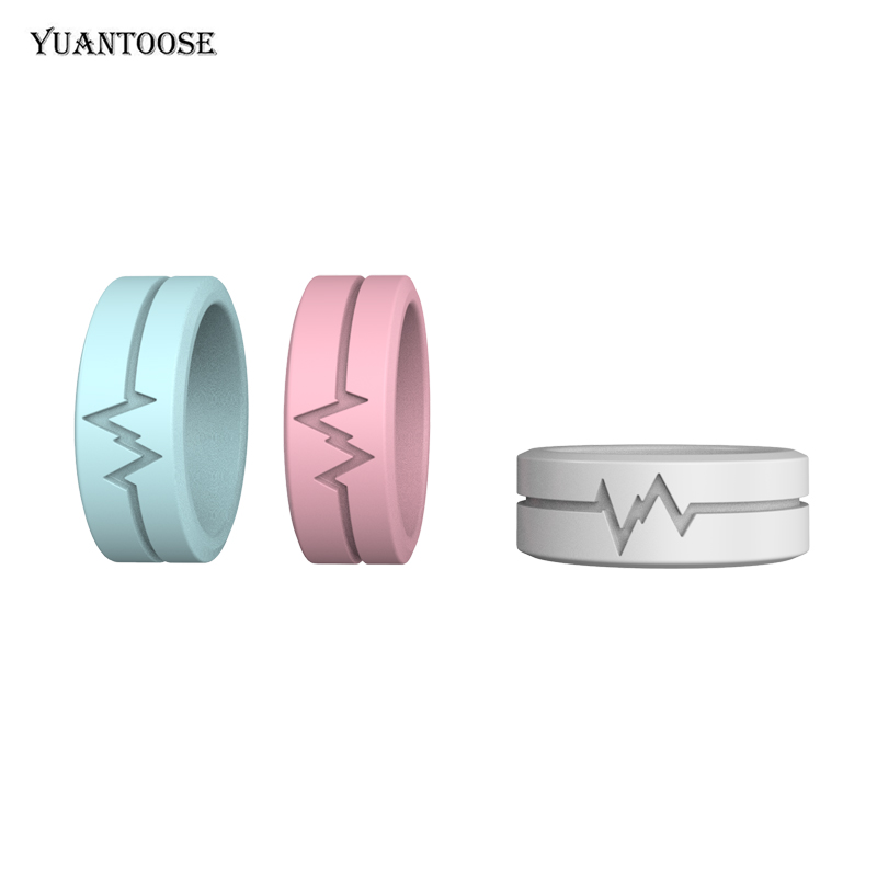 Fashion Cool Soft Silicone Rings For Party Camping Running