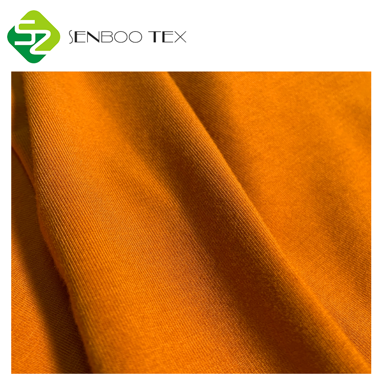 Sustainable bamboo clothing fabric activewear 62%Bamboo 26%Organic cotton 12%SP 340GSM Heavy Jersey for breathable leggings