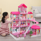 2021hot sell big doll houses for indoor for girls with doll family and high quality big doll houses for indoor for girls age 9