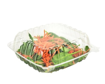 Clear Hinged Lid Plastic Container, Fresh Fruit Packaging Box Plastic Fruit Box Clamshell Fruit Box