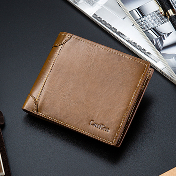 Cross-Border men's PU short wallet dollar clip loose-leaf multi-card position wallet multi-function