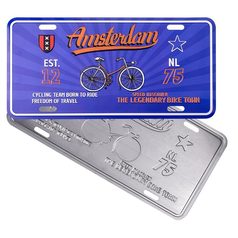 Пользовательский тисненый металлический номерной знак, персонализированный голландский Амстердам, Роттердам, сувенир, подарок, номерной знак для автомобиля