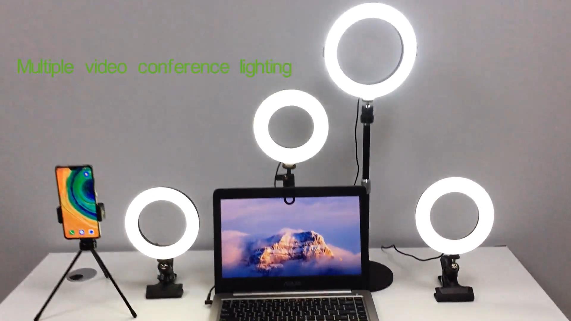 6 8 10 Inch Tiktok Usb Photo Studio Camera Selfie Fill Video Conference Lighting Kit Zoom Led Ring Light With Tripod Stand