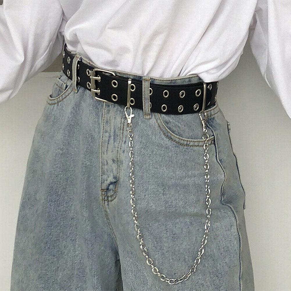 Stylish Women Metal Buckle Skinny Waist Chain Casual Jean Dress Waist Chain Belt