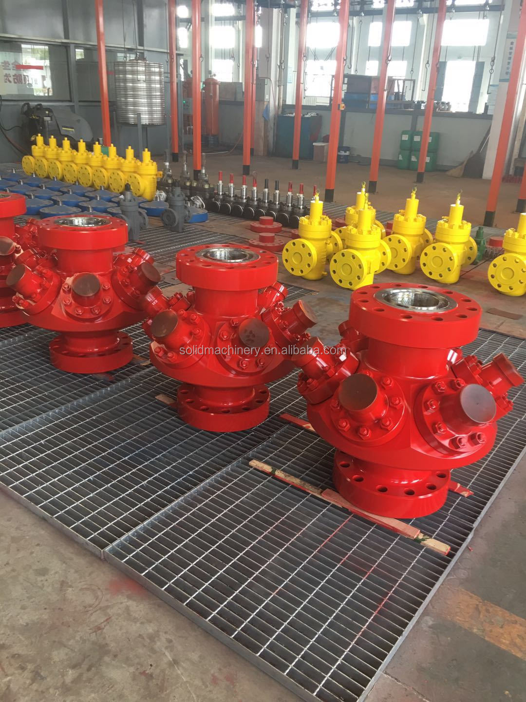 API 6A six outlets frac heads for fracturing work