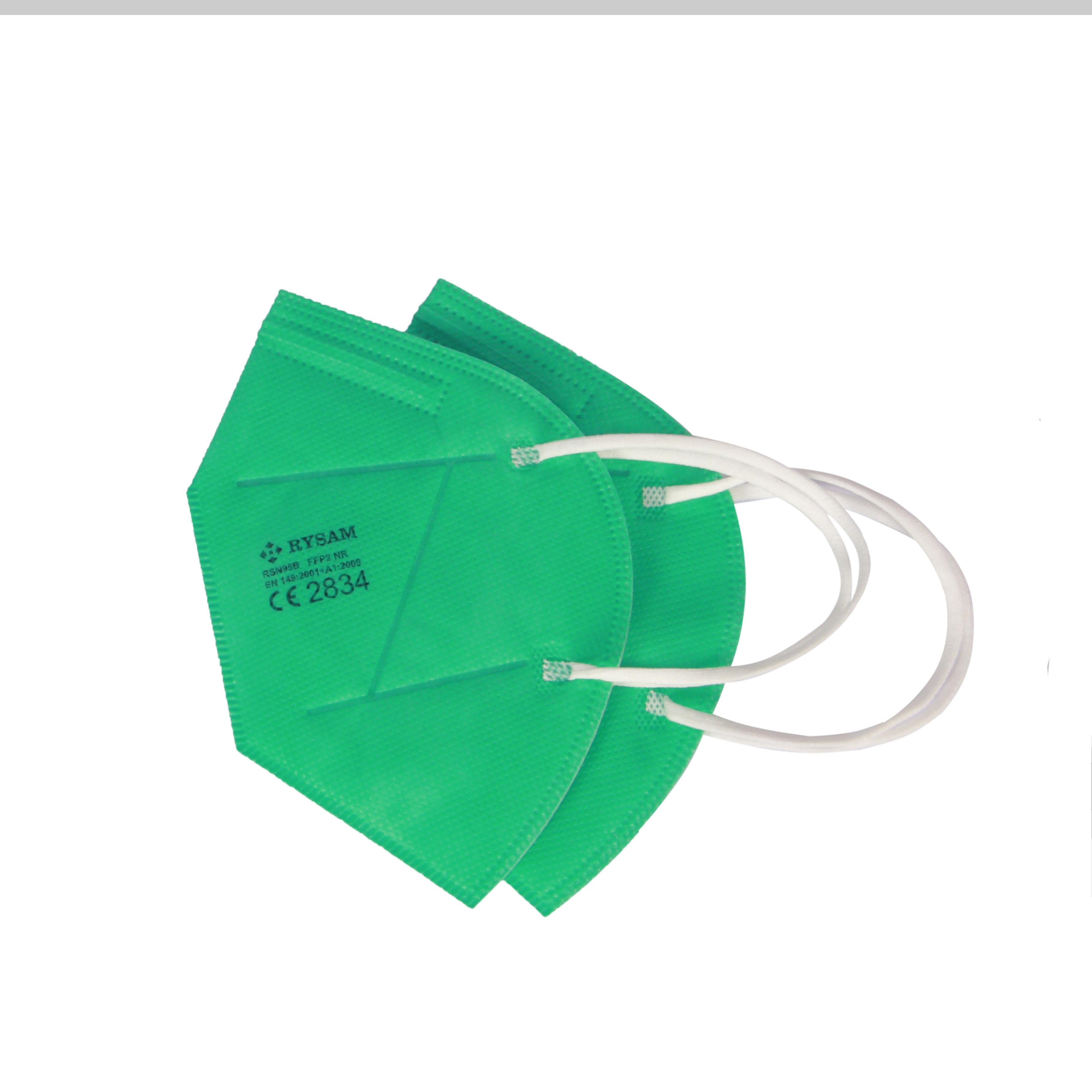 Particle Filtering FFP2 EN149:2001+A1:2009 FFP2 green respirators - KingCare   KingCare.net