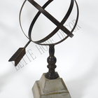 Table Beite 3D Round Iron Ball Table Top Decoration With The Arrow