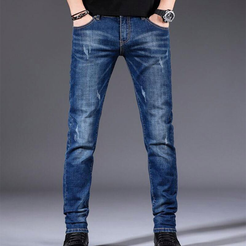Pantalones Vaqueros De Algodon Para Hombre Pantalon De Alta Calidad De Tela Vaquera Suave A La Moda De Talla Grande Buy Famosa Marca De Pantalones De Mezclilla Suave Pantalones Para Hombre De La Moda De Los