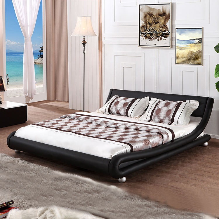 home furniture factory direct sell black modern bedroom furniture double full size used bed frames