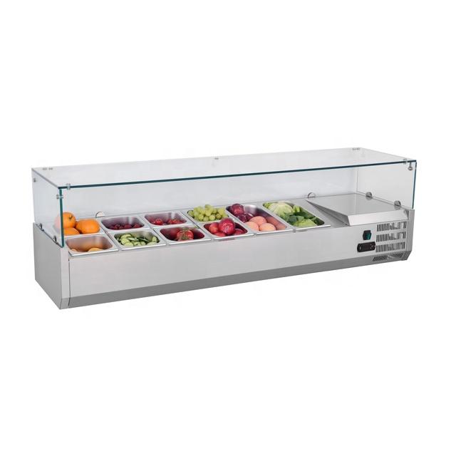 Salad Prep Counter refrigerated counter top salad display showcase salad bar counter