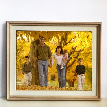 Retro solid wood effect 16x20 photo frame family edition