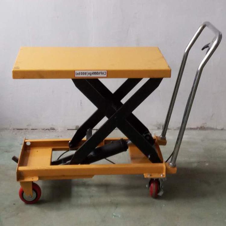 Manual Portable Table Mobile Table Cart Lift Hydraulic Lifting Platform