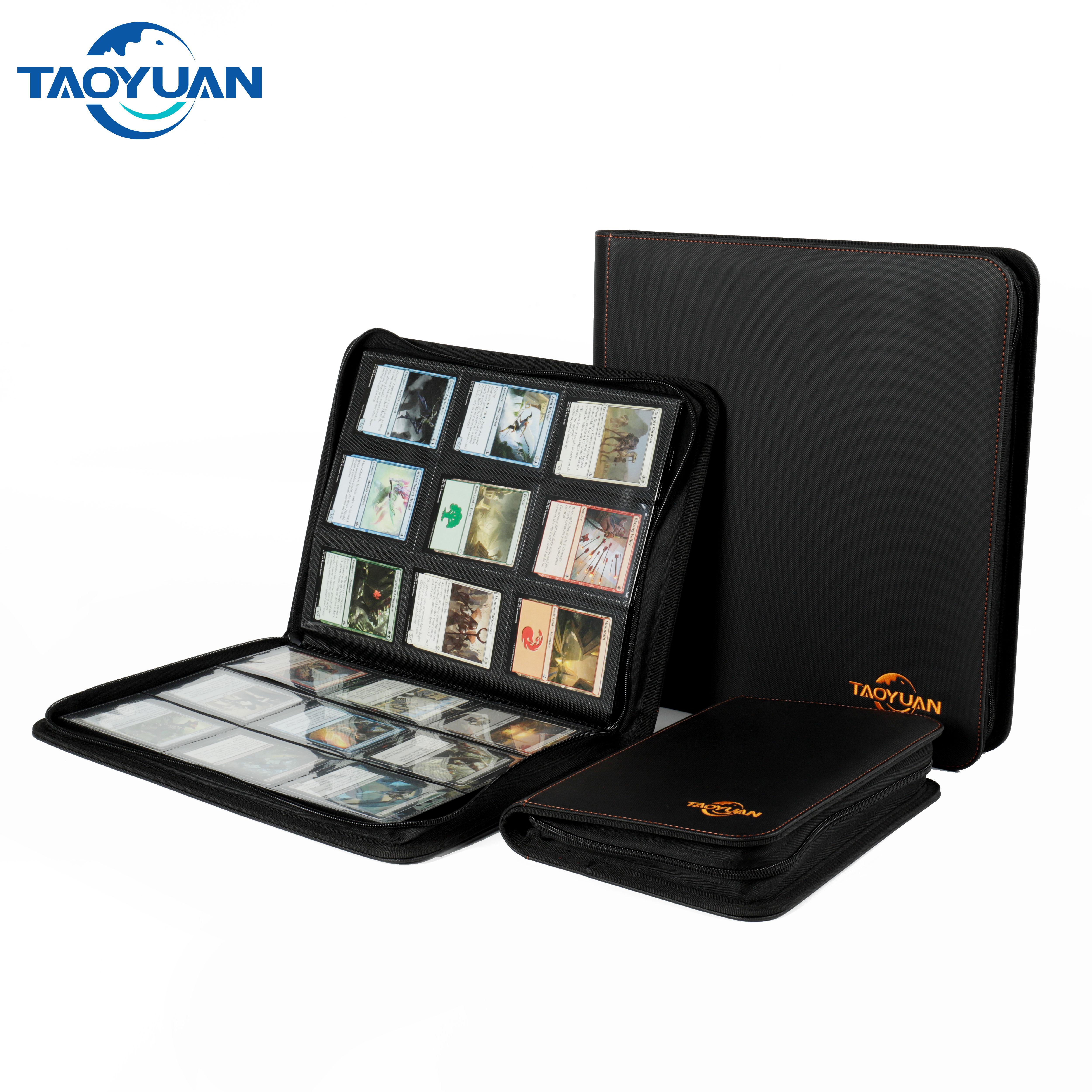 Zippered 9 Pocket Trading Card Album Folder ,360 Side Loading Pocket Binder for TCG