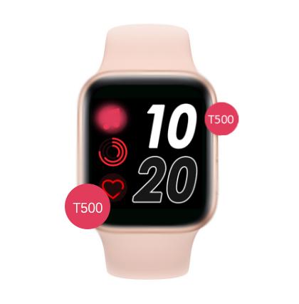 Дропшиппинг T500 плюс Смарт-часы Полный сенсорный экран умные часы сердечного ритма монитор наблюдения за сном