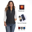Vest Heated Down Vest Women Winter 5V Warming Sleeveless USB Electric Battery Rechargeable Far Infrared Smart Self Heated Thermal Padded Vest For Women