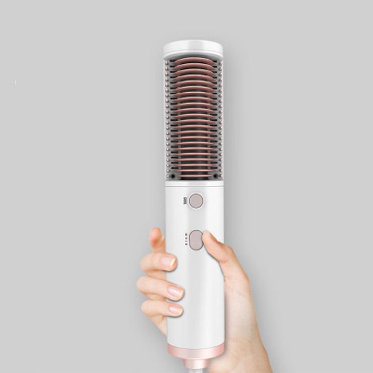 Последние 110/240V вращающийся расческа для выпрямления волос, горячий/холодный воздух один шаг Фен-щетка с инфракрасными датчиками