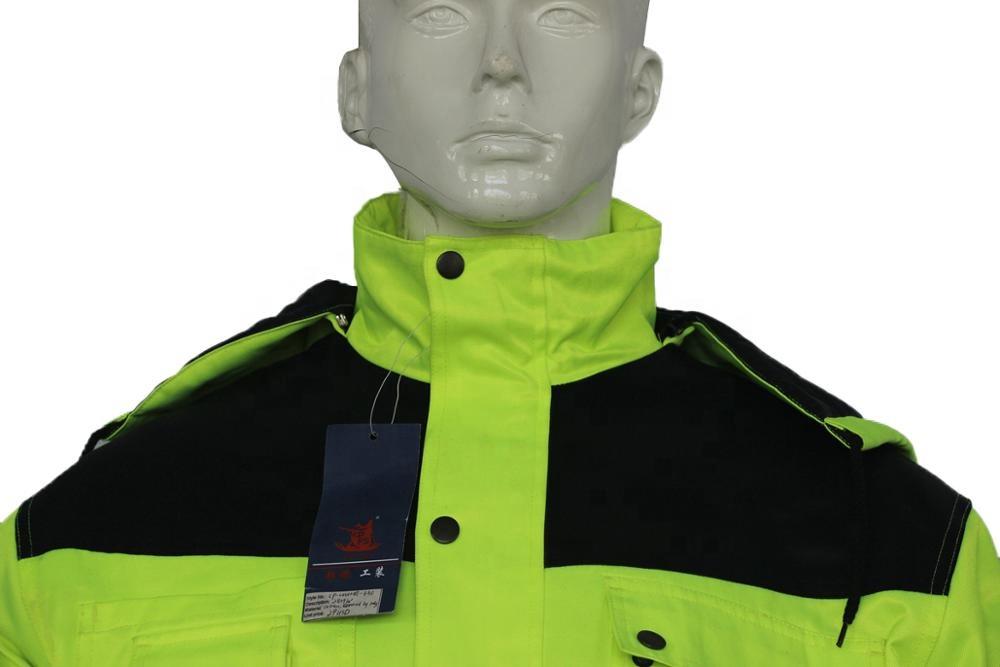 OEM дизайн Заводская поставка мужской полиэфирный хлопковый Изолированный Комбинезон Погодостойкая Светоотражающая Рабочая одежда