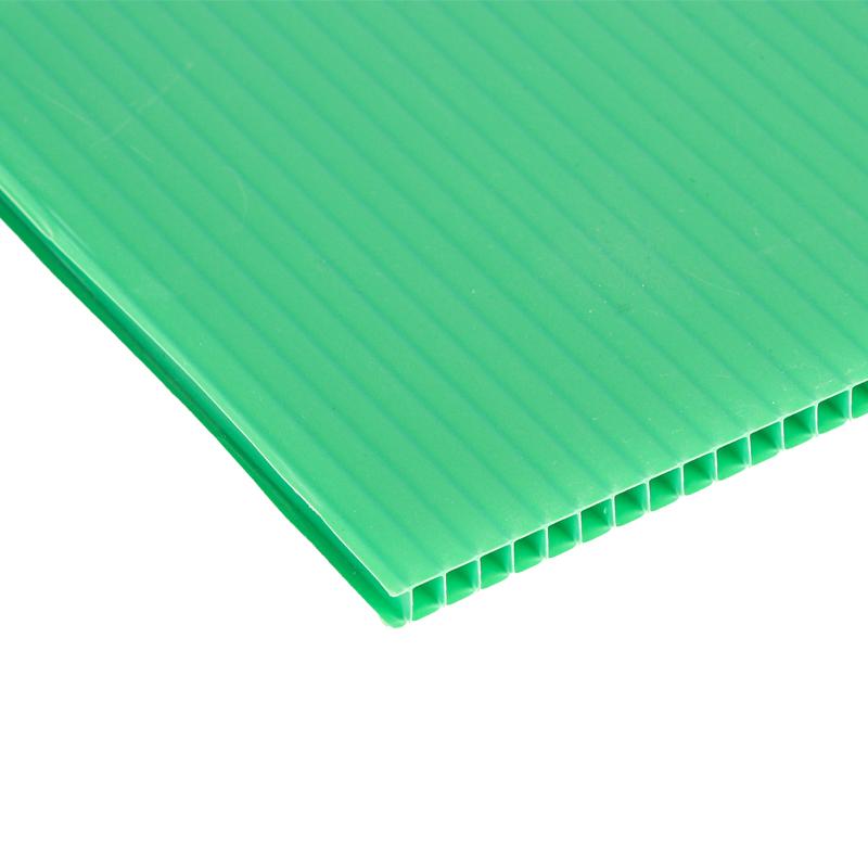Пользовательский цвет, защита окружающей среды, водонепроницаемый, прочный, перерабатываемый, 5 мм ПП гофрированный пластиковый лист