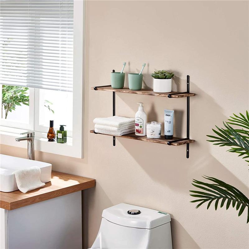 Плавающие полки настенный фон с изображением деревянной стены хранения полки 2 яруса для спальни, ванной комнаты гостиной