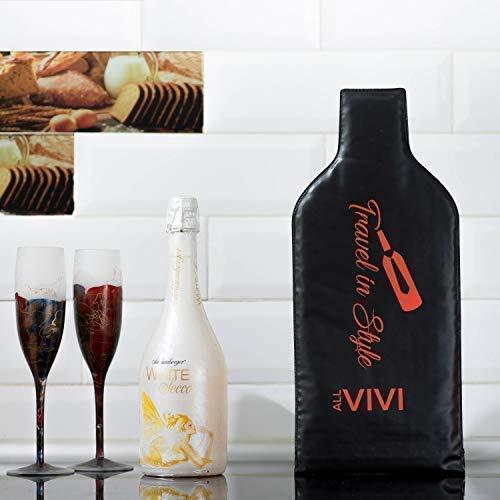 Биоразлагаемый мешок-переноска для вина, черный пластиковый многоразовый протектор для винных бутылок, защитный чехол, дорожный мешок, мешки для пузырей для винных бутылок