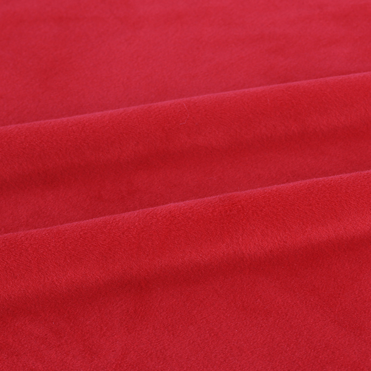 Ready to ship Knit Cozy poly spandex Plush Fabric one side minky with 4 way stretchy for baby blanket