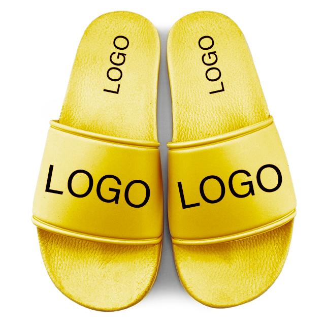 Greatshoe customize made men slippers brand name blank slide sandal,customize summer beach pvc sliders slippers for men
